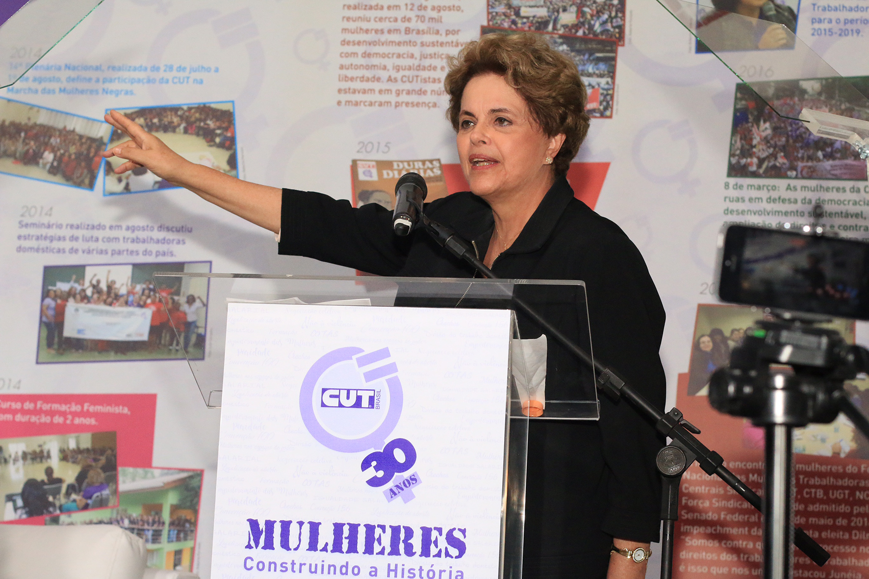 RP Dilma Rousseff Comemoracoes 30 Anos CUT Mulher Sao Paulo 00111302016